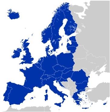 SEPA area map