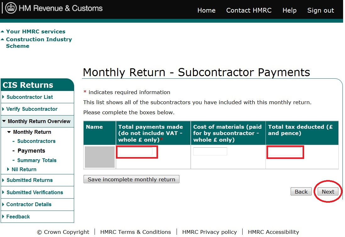 CIS Contractor – How to file CIS return online – Accountant's Notes